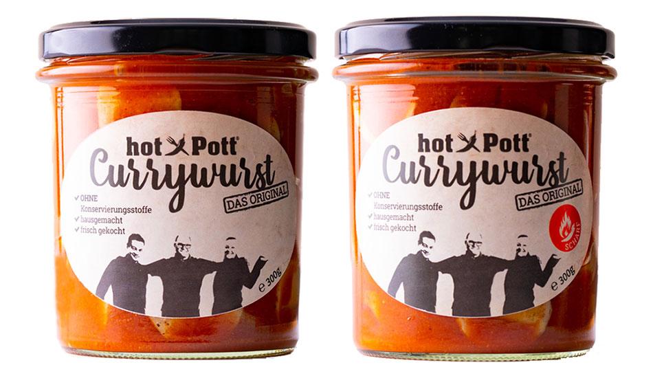 Currywurst Normal und Scharf