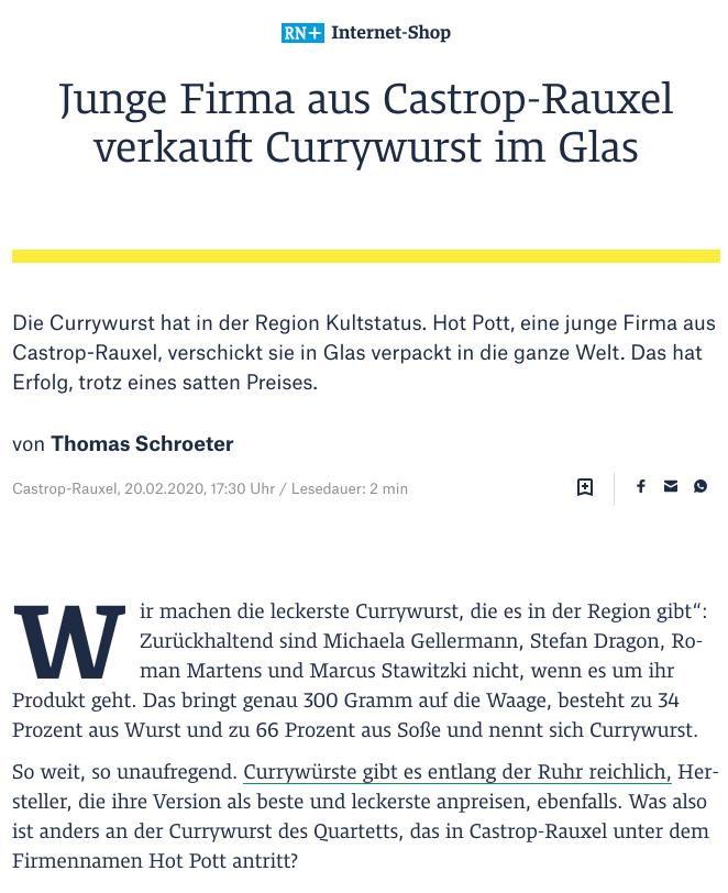 Ruhr-Nachrichten 20.02.2020